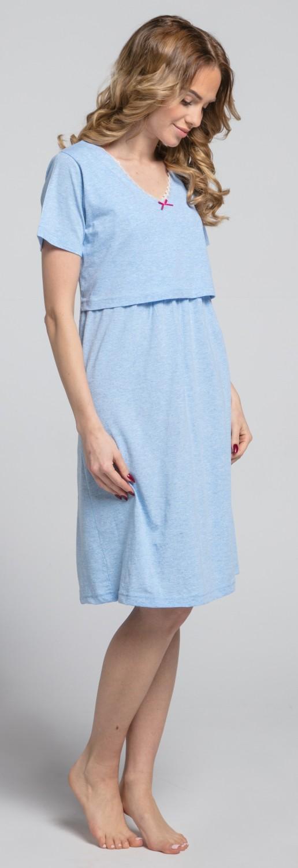 Zeta-Ville-Women-039-s-maternity-breastfeeding-stripes-set-robe-nightdress-190c thumbnail 28