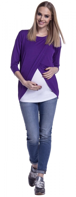 Happy-Mama-Women-039-s-Maternity-Nursing-Wrap-Top-3-4-Sleeves-Double-Layer-446p thumbnail 34
