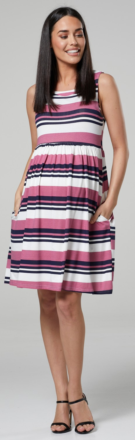 HAPPY-MAMA-Women-039-s-Maternity-Nursing-Pleated-Cocktail-Print-Dress-Sleeveless-103 thumbnail 83