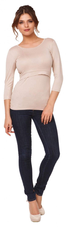 Happy-Mama-Women-039-s-Maternity-Nursing-Double-Layered-Top-Round-Neckline-988p thumbnail 4