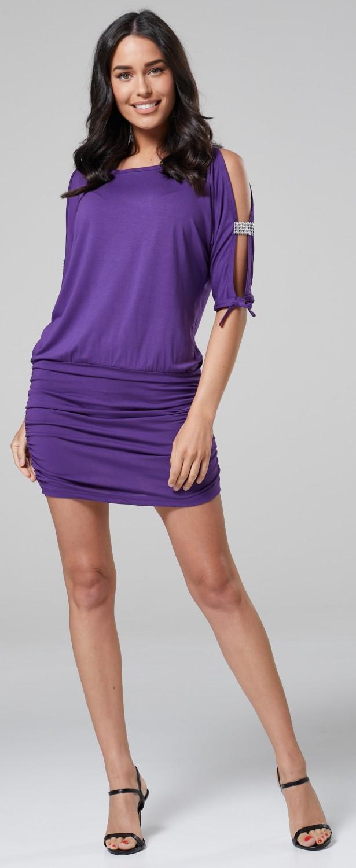 Glamour-Empire-Women-039-s-Open-Sleeve-Stretchy-Jersey-Tunic-Mini-Dress-157 thumbnail 13
