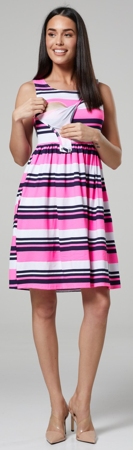 HAPPY-MAMA-Women-039-s-Maternity-Nursing-Pleated-Cocktail-Print-Dress-Sleeveless-103 thumbnail 75