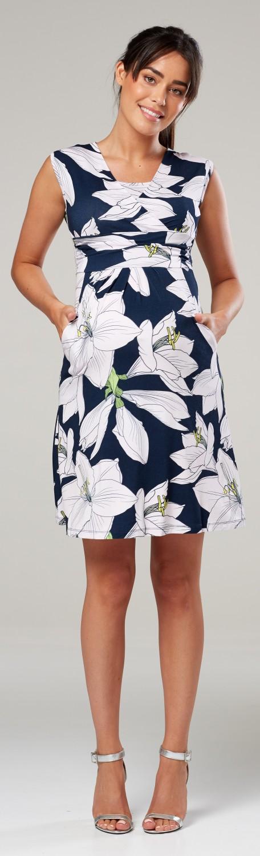Zeta-Ville-Women-039-s-Maternity-Nursing-A-line-Dress-Pockets-Sleeveless-500c thumbnail 129