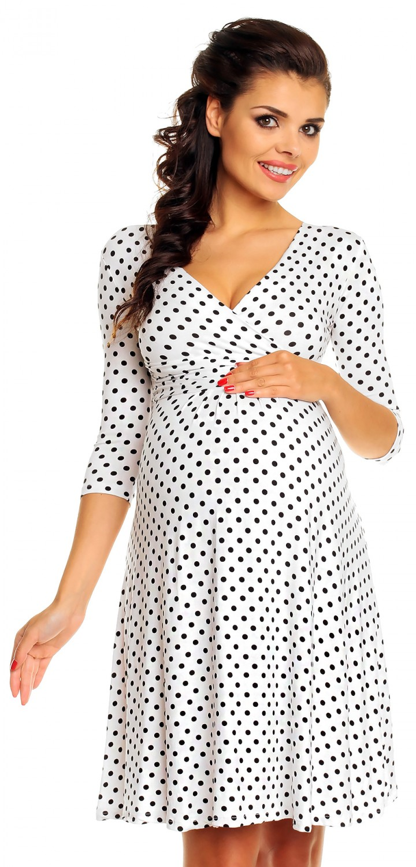 5af547a5274 Zeta Ville Women s Maternity Wrap V-neck Polka Dot Dress Summer Spot Dress  017c