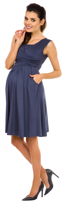 Zeta-Ville-Women-039-s-Maternity-Nursing-A-line-Dress-Pockets-Sleeveless-500c thumbnail 14