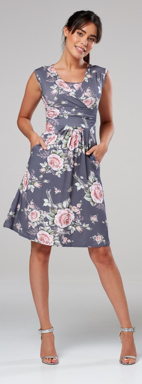 Zeta-Ville-Women-039-s-Maternity-Nursing-A-line-Dress-Pockets-Sleeveless-500c thumbnail 123