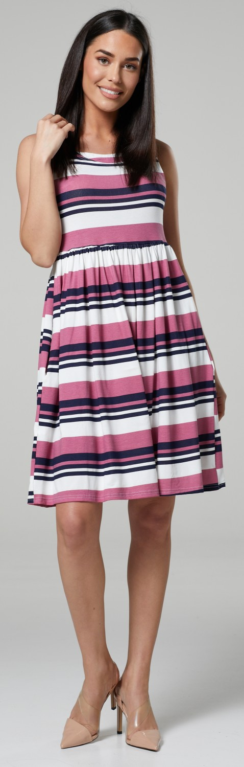 HAPPY-MAMA-Women-039-s-Maternity-Nursing-Pleated-Cocktail-Print-Dress-Sleeveless-103 thumbnail 81