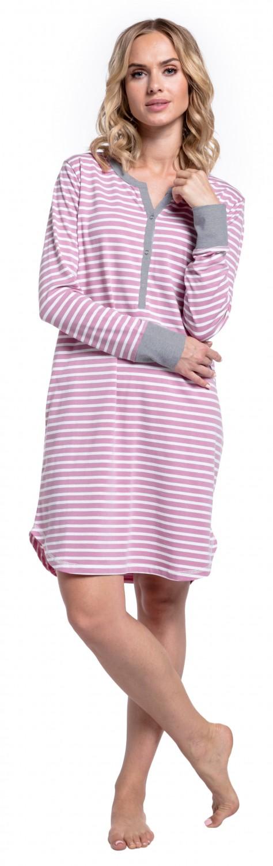 Happy-Mama-Women-039-s-Maternity-Hospital-Nightdress-Nursing-Nightie-Stripes-589p thumbnail 41