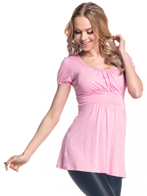 688ec878e77f Happy Mama. Women's Maternity Stretch Short Sleeve Tunic Top Size UK ...