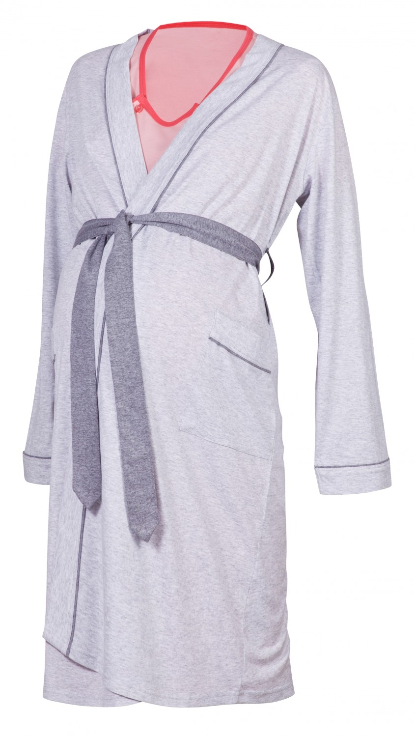 Happy Mama Maternity Gown Robe Nightie for Labour /& Birth Sold Separately 393p Robe - Graphite, UK 8//10, S