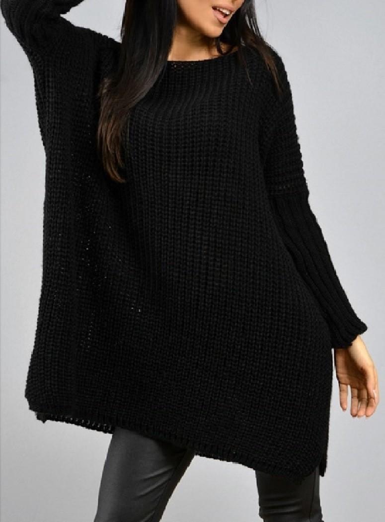 Zeta Ville - Women's Chunky Cable Knit Oversized Jumper Pullover ...
