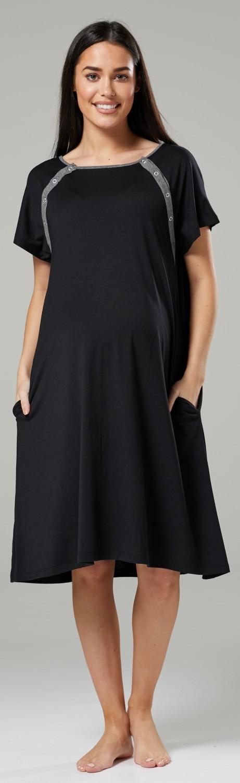 Zeta-Ville-Women-039-s-Maternity-Nursing-Delivery-Hospital-Gown-Nightshirt-536p thumbnail 5