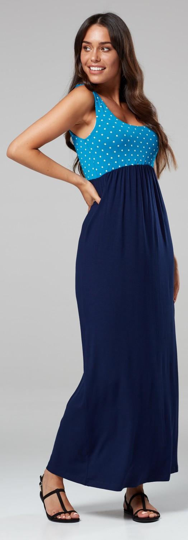 HAPPY MAMA 292p Womens Maternity Maxi Dress Empire Waist Sleeveless