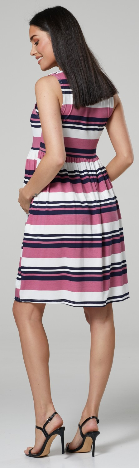 HAPPY-MAMA-Women-039-s-Maternity-Nursing-Pleated-Cocktail-Print-Dress-Sleeveless-103 thumbnail 85