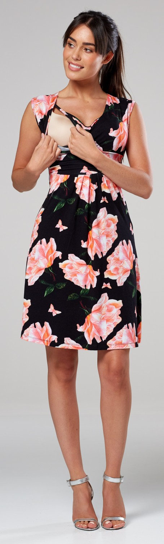 Zeta-Ville-Women-039-s-Maternity-Nursing-A-line-Dress-Pockets-Sleeveless-500c thumbnail 113