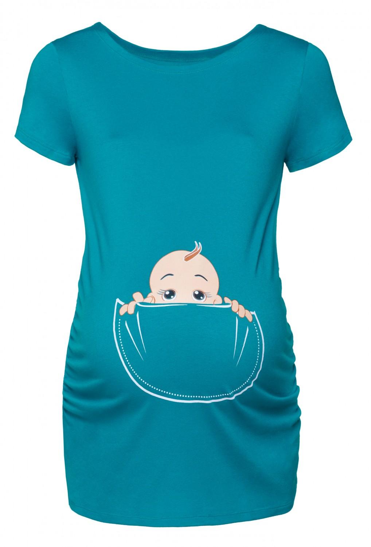 happy mama women 39 s maternity baby in pocket print t shirt top tee shirt 501p ebay. Black Bedroom Furniture Sets. Home Design Ideas