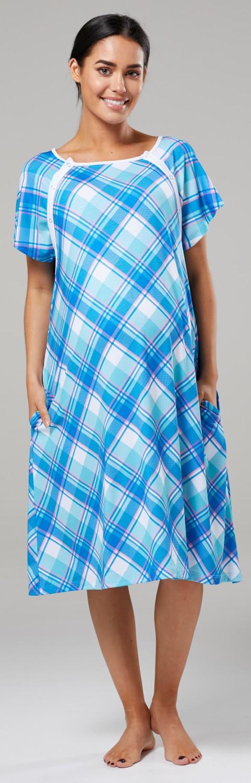 Zeta-Ville-Women-039-s-Maternity-Nursing-Delivery-Hospital-Gown-Nightshirt-536p thumbnail 26