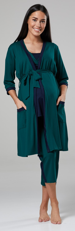 abb8f49b9290b Happy Mama Women's Maternity Nursing Nightwear Pyjama Set/Robe ...