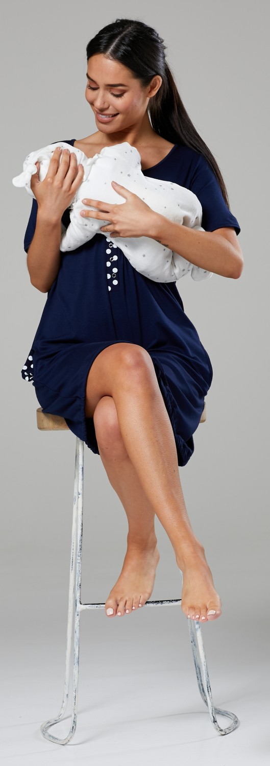 Happy-Mama-Women-039-s-Maternity-Nursing-Delivery-Hospital-Gown-Nightwear-209p thumbnail 22