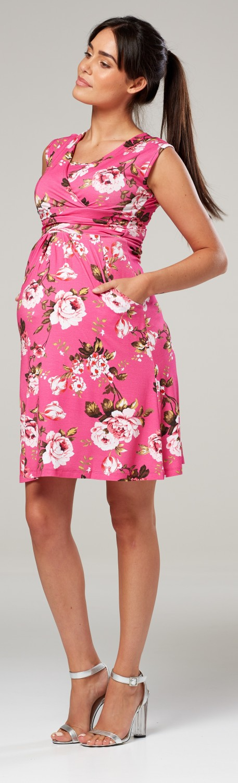 Zeta-Ville-Women-039-s-Maternity-Nursing-A-line-Dress-Pockets-Sleeveless-500c thumbnail 136
