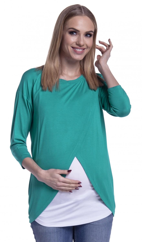 Happy-Mama-Women-039-s-Maternity-Nursing-Wrap-Top-3-4-Sleeves-Double-Layer-446p thumbnail 38