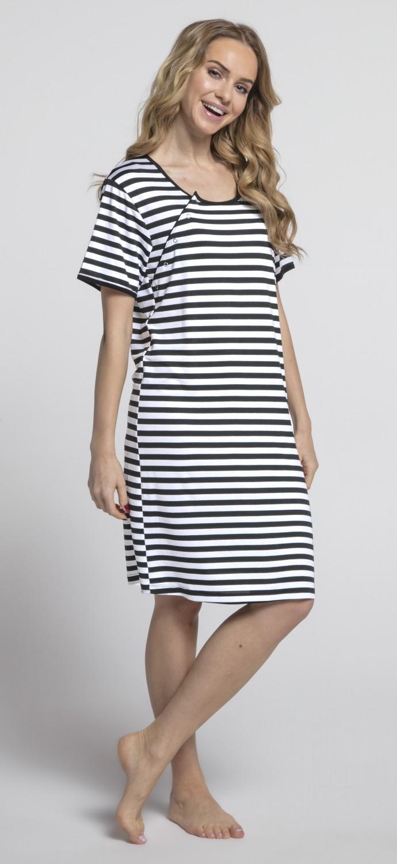 Happy Mama. Womens Maternity Hospital Gown Nightie Stripes Labour ...