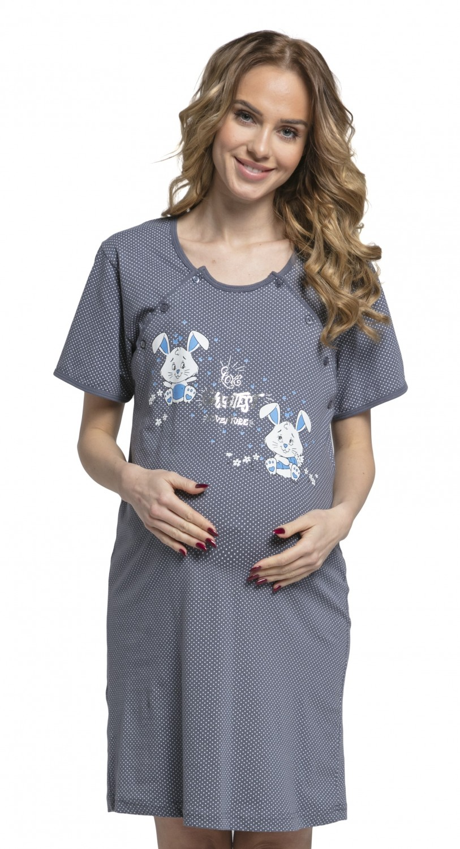 ZETA Ville. Women\'s Maternity Hospital Gown Nightie Dots Labour and ...