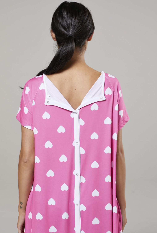 Zeta-Ville-Women-039-s-Maternity-Nursing-Delivery-Hospital-Gown-Nightshirt-536p thumbnail 70