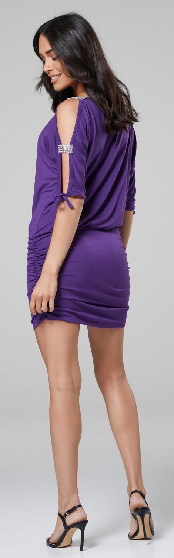 Glamour-Empire-Women-039-s-Open-Sleeve-Stretchy-Jersey-Tunic-Mini-Dress-157 thumbnail 16