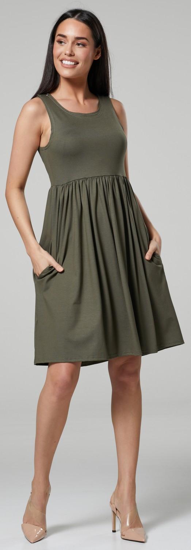Happy-Mama-Women-039-s-Maternity-Nursing-Pleated-Cocktail-Print-Dress-Sleeveless-103 thumbnail 43