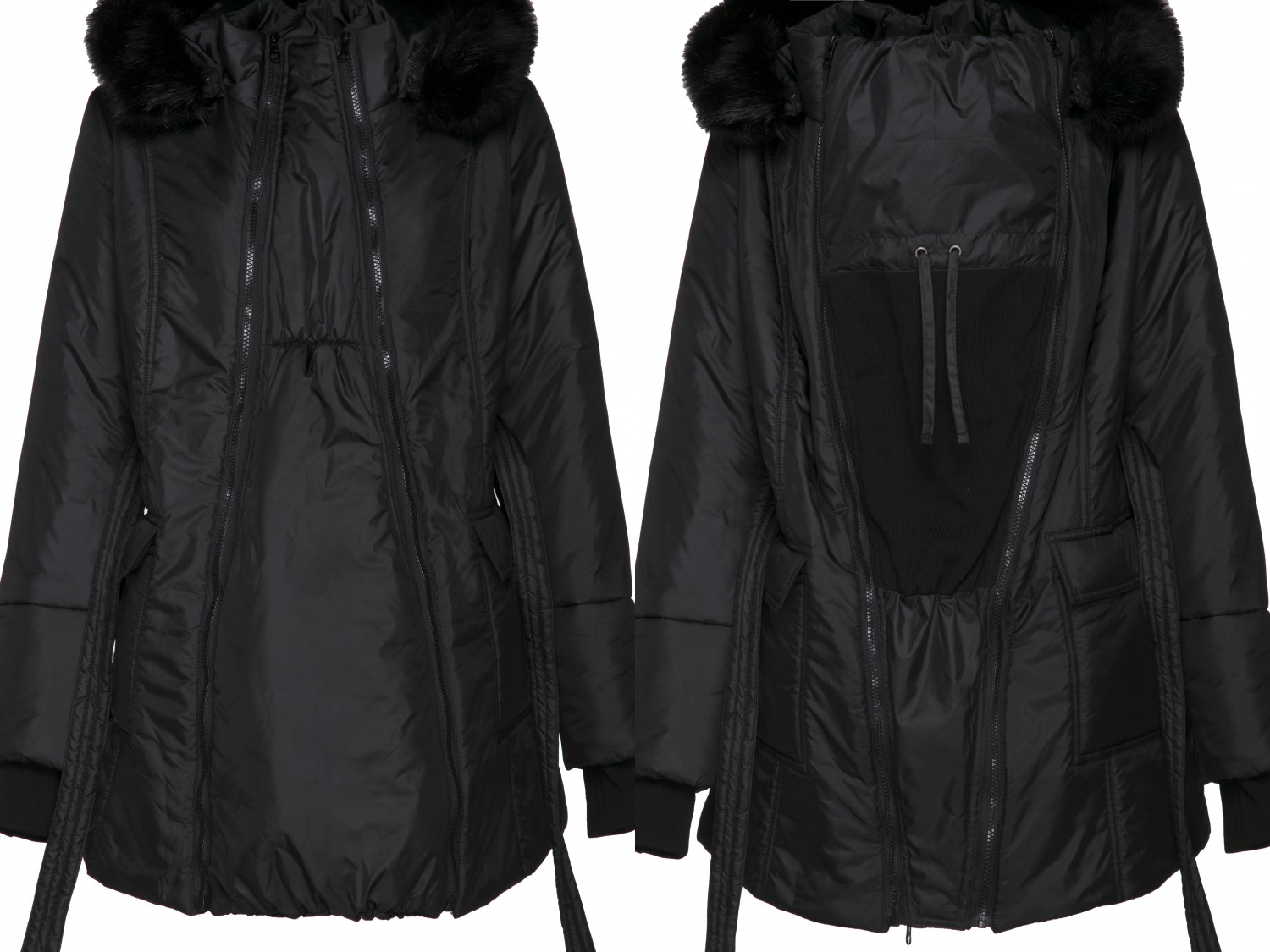 449p Happy Mama Womens Maternity Padded Jacket 3in1 Two-Sided Removable Insert