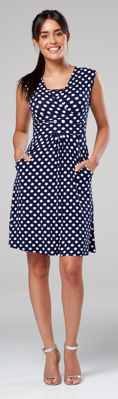 Zeta-Ville-Women-039-s-Maternity-Nursing-A-line-Dress-Pockets-Sleeveless-500c thumbnail 97