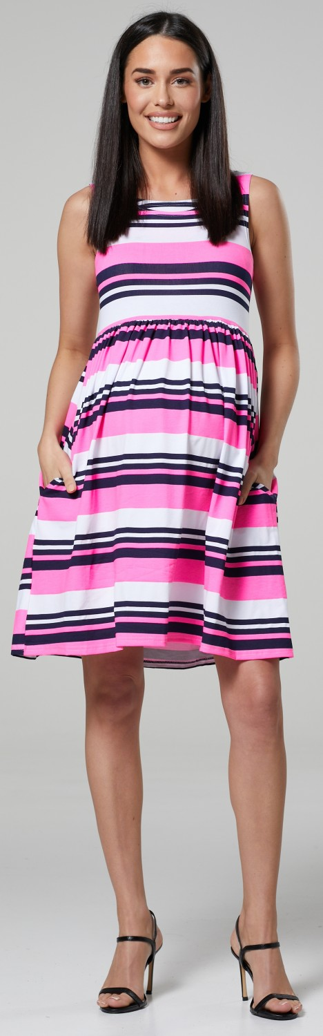 HAPPY-MAMA-Women-039-s-Maternity-Nursing-Pleated-Cocktail-Print-Dress-Sleeveless-103 thumbnail 76