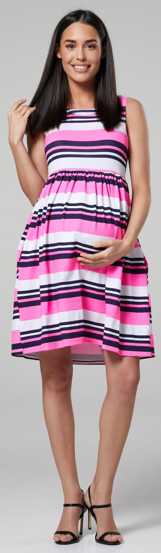 Happy-Mama-Women-039-s-Maternity-Nursing-Pleated-Cocktail-Print-Dress-Sleeveless-103 thumbnail 77