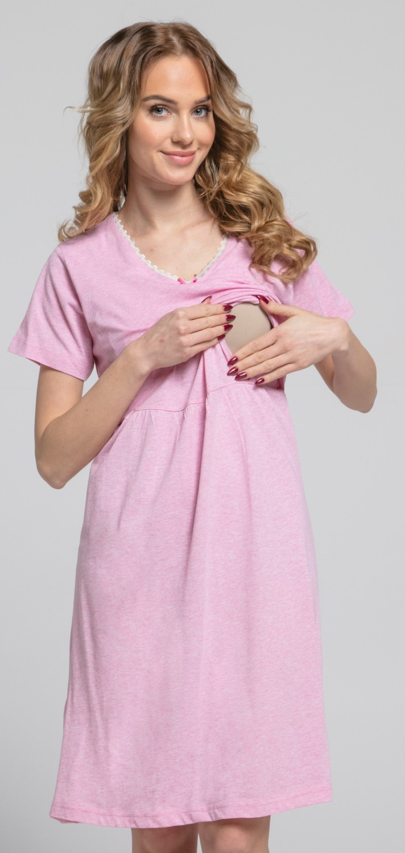 Zeta-Ville-Women-039-s-maternity-breastfeeding-stripes-set-robe-nightdress-190c thumbnail 17