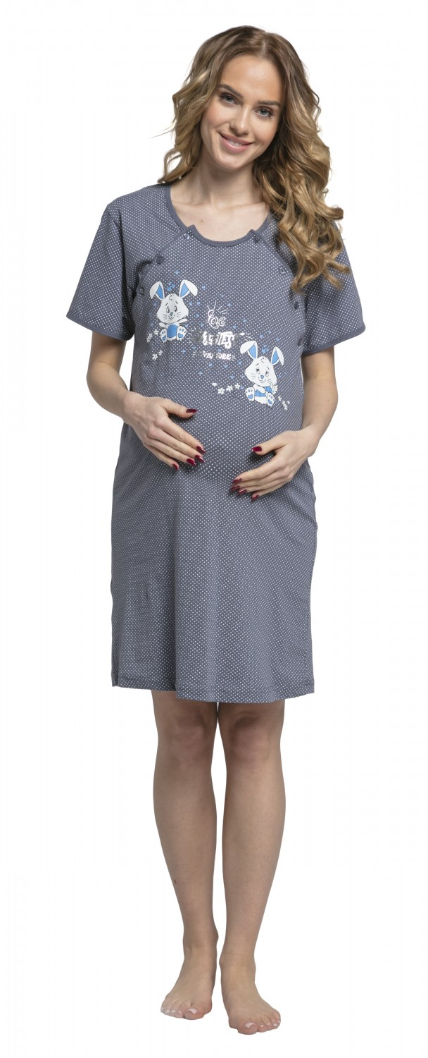 Happy Mama. Women\'s Maternity Hospital Gown Nightie Dots Labour and ...