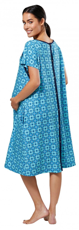 Zeta-Ville-Women-039-s-Maternity-Nursing-Delivery-Hospital-Gown-Nightshirt-536p thumbnail 33