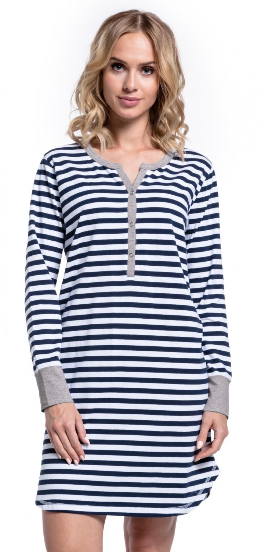Happy-Mama-Women-039-s-Maternity-Hospital-Nightdress-Nursing-Nightie-Stripes-589p thumbnail 11