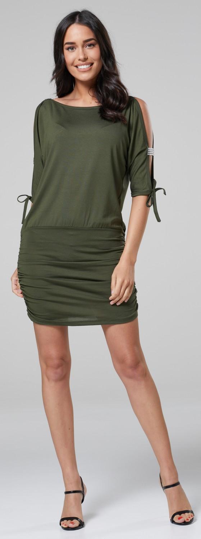 Glamour-Empire-Women-039-s-Open-Sleeve-Stretchy-Jersey-Tunic-Mini-Dress-157 thumbnail 18