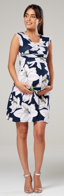 Zeta-Ville-Women-039-s-Maternity-Nursing-A-line-Dress-Pockets-Sleeveless-500c thumbnail 127