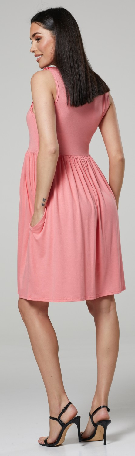 HAPPY-MAMA-Women-039-s-Maternity-Nursing-Pleated-Cocktail-Print-Dress-Sleeveless-103 thumbnail 33