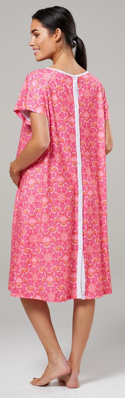Zeta-Ville-Women-039-s-Maternity-Nursing-Delivery-Hospital-Gown-Nightshirt-536p thumbnail 56