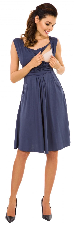 Zeta-Ville-Women-039-s-Maternity-Nursing-A-line-Dress-Pockets-Sleeveless-500c thumbnail 12