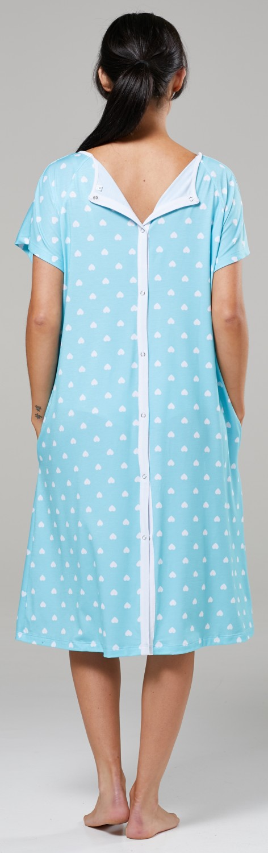 Zeta-Ville-Women-039-s-Maternity-Nursing-Delivery-Hospital-Gown-Nightshirt-536p thumbnail 65