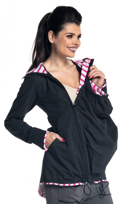 035e66ddec36f Zeta Ville - Women's Maternity Hooded Sweatshirt Babywearing Carrier ...