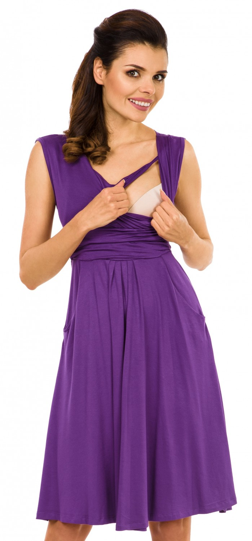 Zeta-Ville-Women-039-s-Maternity-Nursing-A-line-Dress-Pockets-Sleeveless-500c thumbnail 28